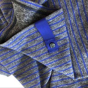 Lululemon vinyasa scarf gray blue purple stripes